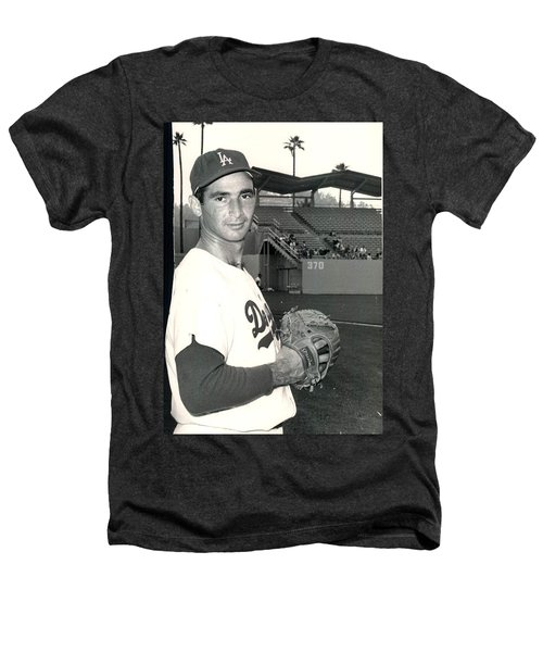 Sandy Koufax Photo Portrait Heathers T-Shirt