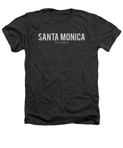 Santa Monica, California Heathers T-Shirt by Design Ideas