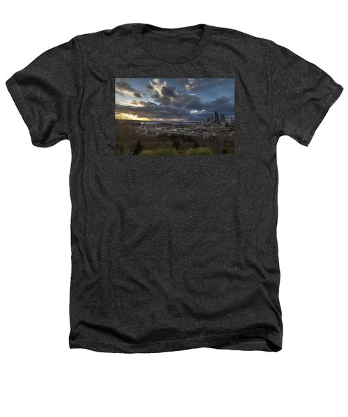 Seattle Dramatic Dusk Heathers T-Shirt by Mike Reid
