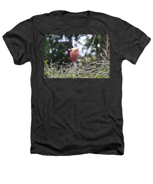 Spoonbill In The Branches Heathers T-Shirt by Carol Groenen