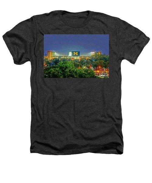 Stadium At Night Heathers T-Shirt by John Farr
