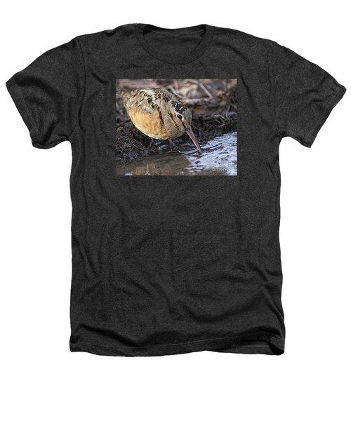 Streamside Woodcock Heathers T-Shirt by Timothy Flanigan