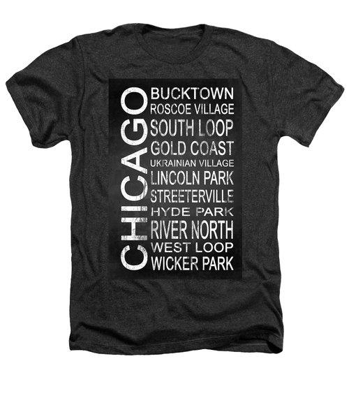 Subway Chicago 2 Heathers T-Shirt