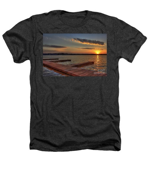 Sunset Docks On Lake Oconee Heathers T-Shirt by Reid Callaway