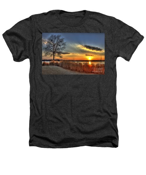 Sunset Sawgrass On Lake Oconee Heathers T-Shirt by Reid Callaway