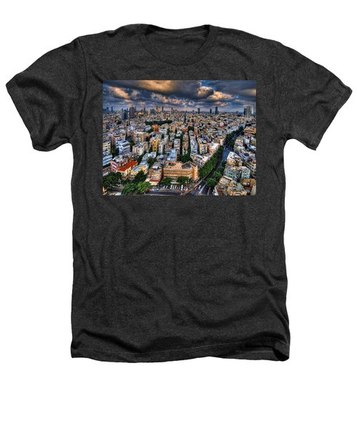 Tel Aviv Lookout Heathers T-Shirt by Ron Shoshani