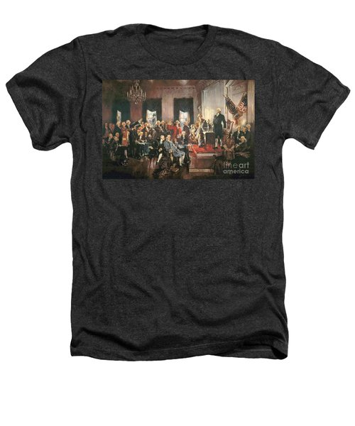 The Signing Of The Constitution Of The United States In 1787 Heathers T-Shirt by Howard Chandler Christy