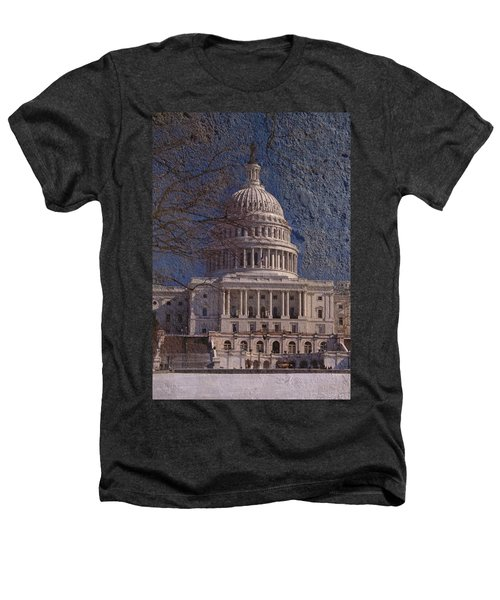 United States Capitol Heathers T-Shirt by Skip Willits