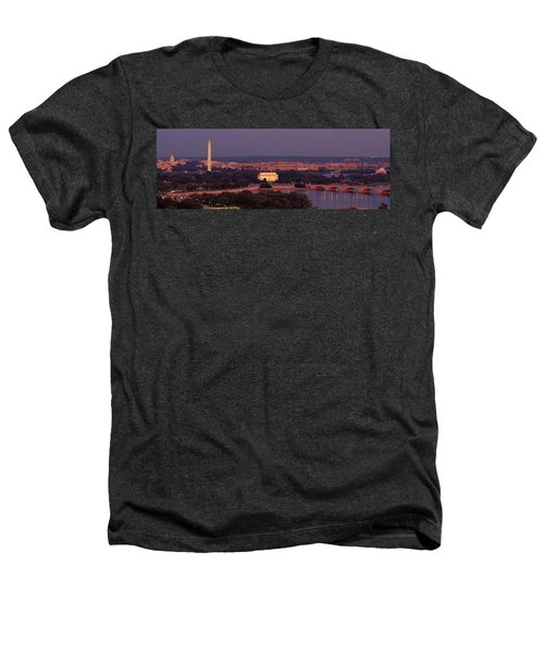 Usa, Washington Dc, Aerial, Night Heathers T-Shirt