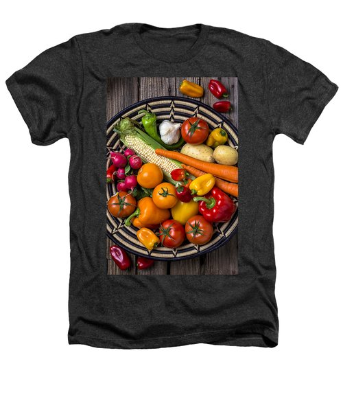 Vegetable Basket    Heathers T-Shirt by Garry Gay