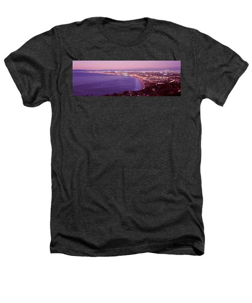 View Of Los Angeles Downtown Heathers T-Shirt