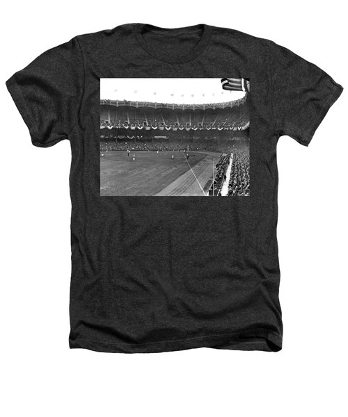 View Of Yankee Stadium Heathers T-Shirt by Underwood Archives