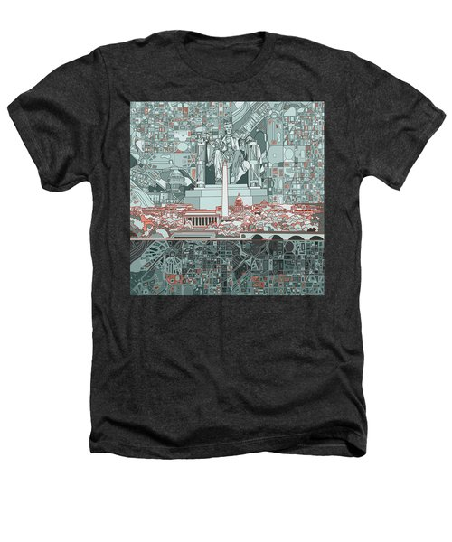 Washington Dc Skyline Abstract Heathers T-Shirt