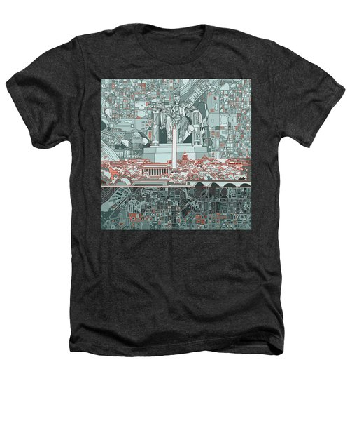 Washington Dc Skyline Abstract Heathers T-Shirt