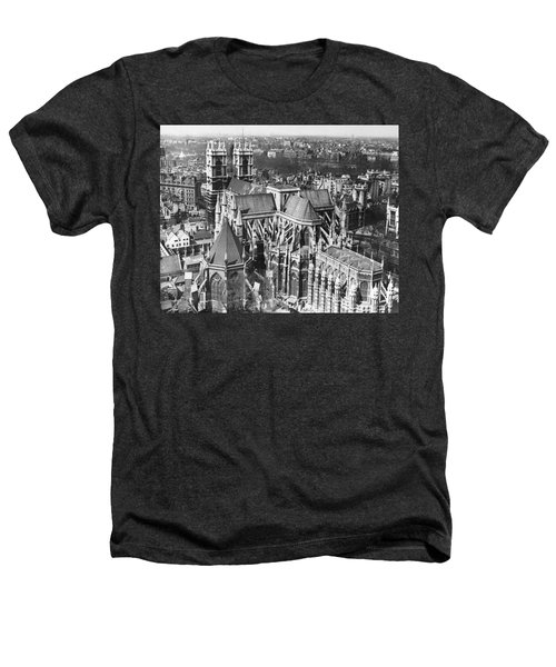 Westminster Abbey In London Heathers T-Shirt by Underwood Archives