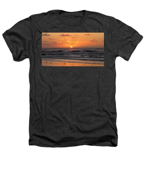 Wildwood Beach Here Comes The Sun Heathers T-Shirt by David Dehner