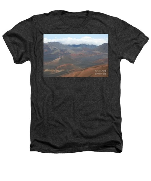 Haleakala Volcano Maui Hawaii Heathers T-Shirt by Sharon Mau