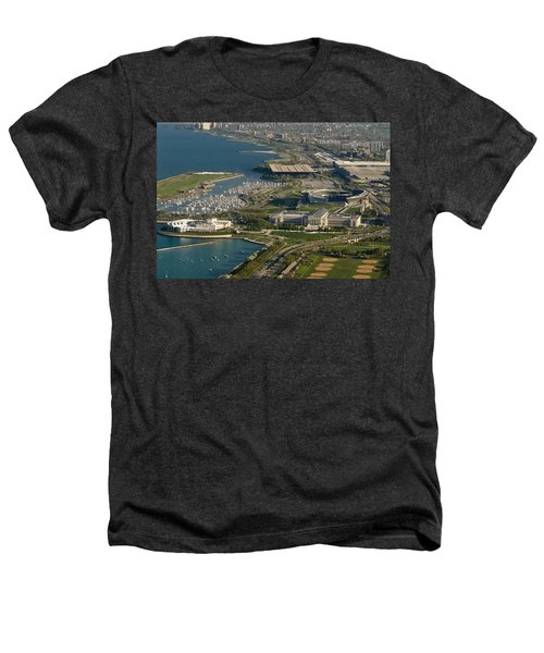 Chicagos Lakefront Museum Campus Heathers T-Shirt by Steve Gadomski