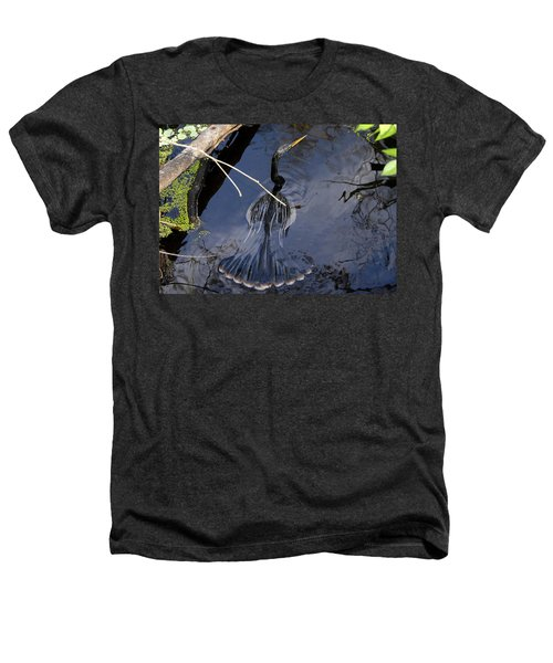 Swimming Bird Heathers T-Shirt by David Lee Thompson