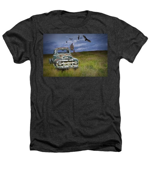 Vultures And The Abandoned Truck Heathers T-Shirt