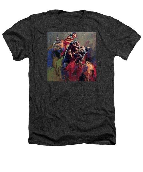 062 Jima Marine Memorial Washington Dc Heathers T-Shirt by Maryam Mughal