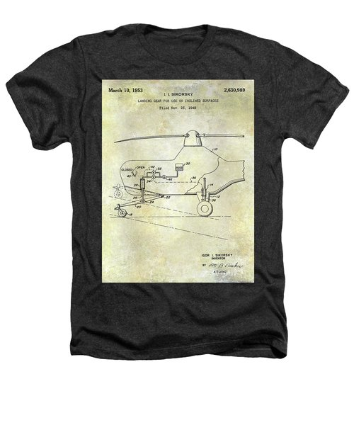 1953 Helicopter Patent Heathers T-Shirt by Jon Neidert