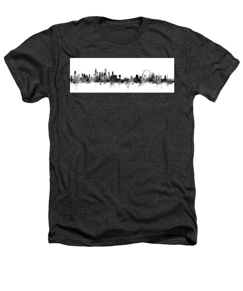 Chicago And St Louis Skyline Mashup Heathers T-Shirt