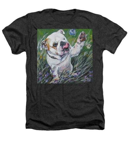 English Bulldog Heathers T-Shirt by Lee Ann Shepard