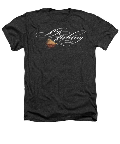 Fly Fishing Elk Hair Caddis Heathers T-Shirt by Rob Corsetti