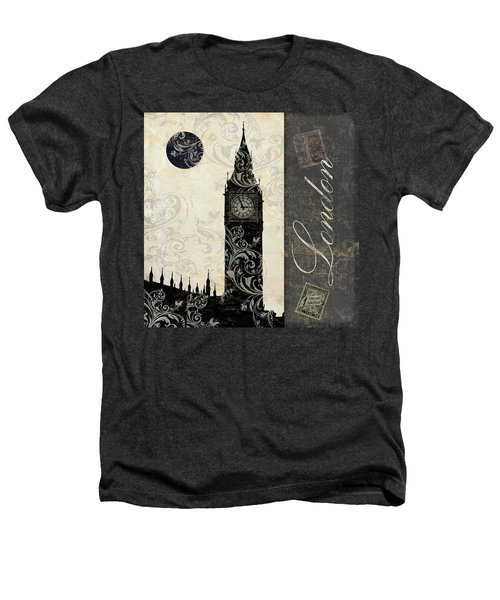 Moon Over London Heathers T-Shirt by Mindy Sommers