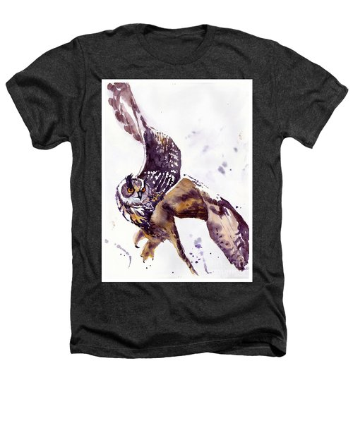 Owl Watercolor Heathers T-Shirt