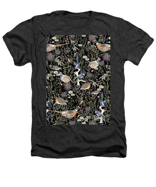 Woodland Edge Birds Heathers T-Shirt