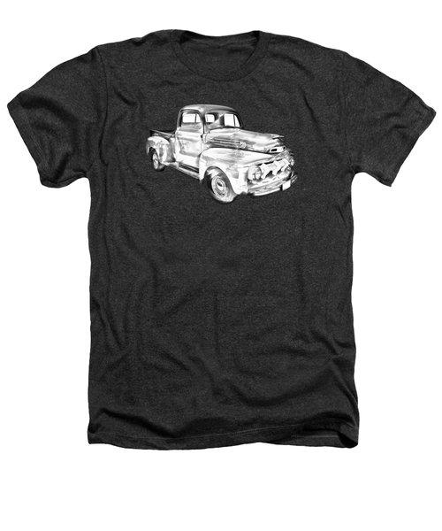 1951 Ford F-1 Pickup Truck Illustration  Heathers T-Shirt