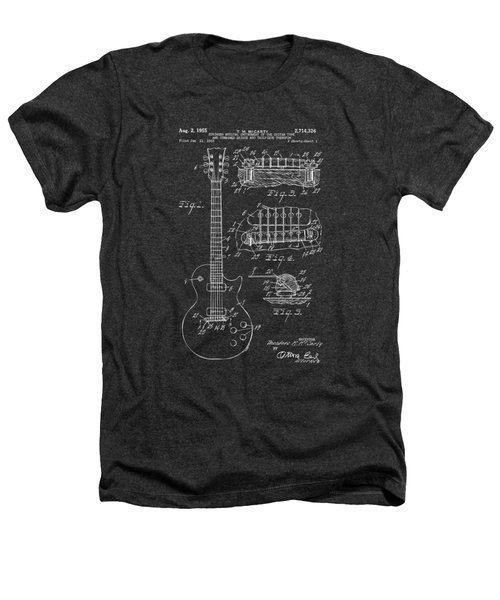 1955 Mccarty Gibson Les Paul Guitar Patent Artwork - Gray Heathers T-Shirt