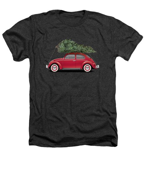 1962 Volkswagen Deluxe Sedan - Ruby Red W/ Christmas Tree Heathers T-Shirt by Ed Jackson