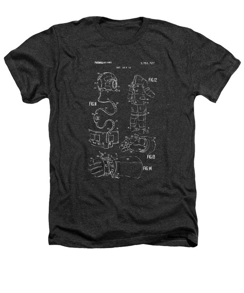 1973 Space Suit Elements Patent Artwork - Gray Heathers T-Shirt by Nikki Marie Smith