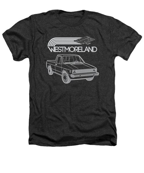 Vw Rabbit Pickup - Westmoreland Theme - Black Heathers T-Shirt by Ed Jackson