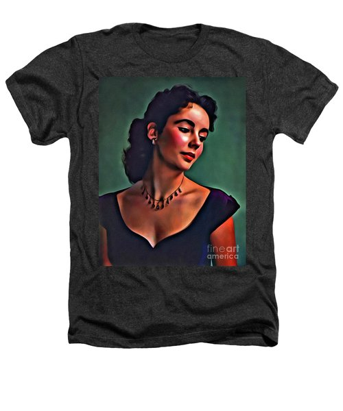Elizabeth Taylor, Vintage Hollywood Legend By Mary Bassett Heathers T-Shirt by Mary Bassett