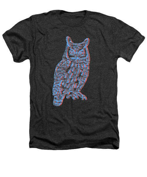 3d Owl Heathers T-Shirt by Cold Wash