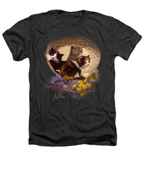 A Basket Of Cuteness Heathers T-Shirt by Lucie Bilodeau