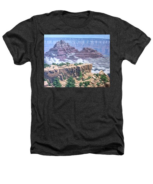 Above The Clouds Grand Canyon Heathers T-Shirt by Jim Thomas