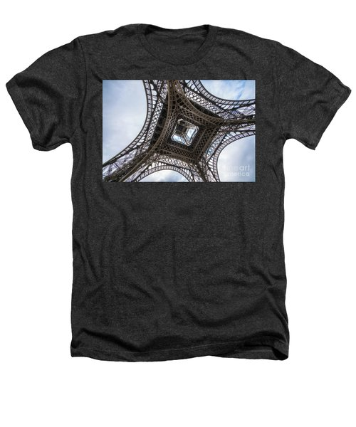 Abstract Eiffel Tower Looking Up 2 Heathers T-Shirt by Mike Reid