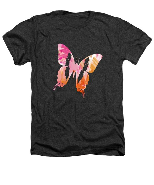 Abstract Paint Pattern Heathers T-Shirt by Christina Rollo