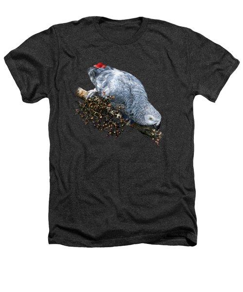 African Grey Parrot A Heathers T-Shirt by Owen Bell