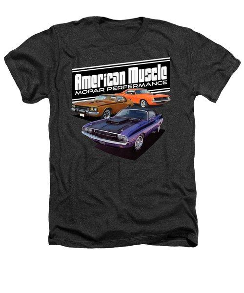 American Mopar Muscle Heathers T-Shirt by Paul Kuras