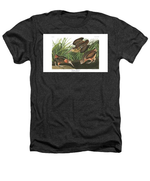 American Woodcock Heathers T-Shirt by MotionAge Designs
