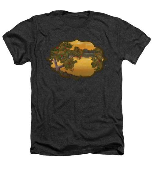 Apple Sunset Heathers T-Shirt by Anastasiya Malakhova