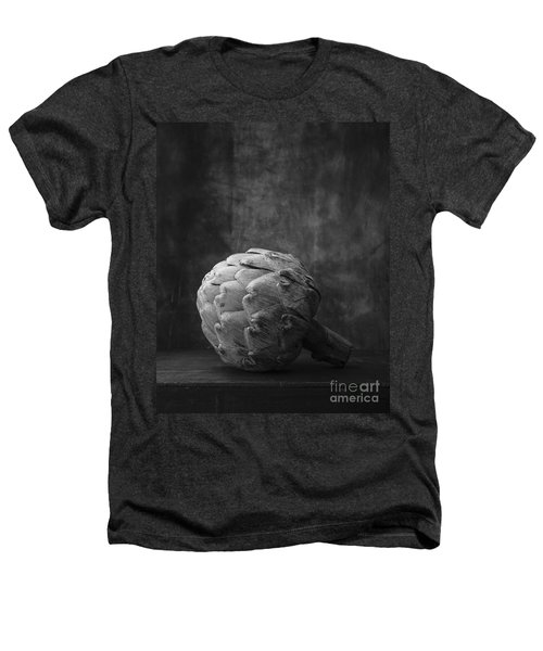 Artichoke Black And White Still Life Heathers T-Shirt by Edward Fielding