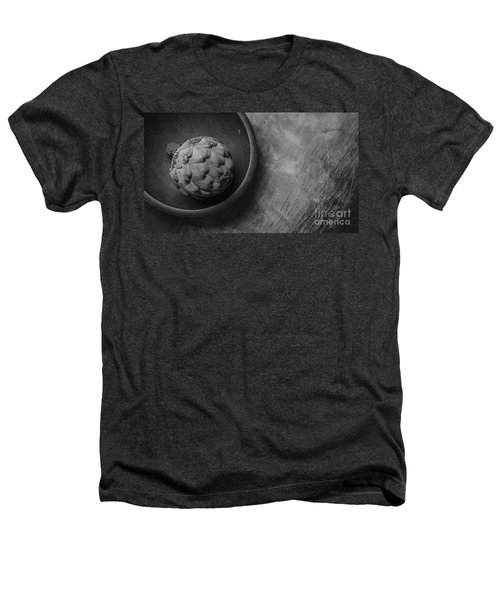 Artichoke Black And White Still Life Three Heathers T-Shirt by Edward Fielding