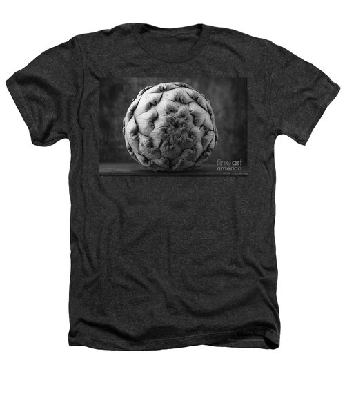 Artichoke Black And White Still Life Two Heathers T-Shirt by Edward Fielding